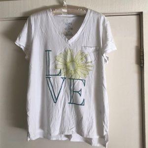 Life Is Good Tops - Life is good white tee sleep collection